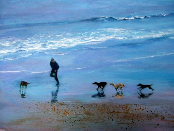 Ruth Lewis 'Beach running'